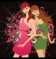 dance floor honeys vector image