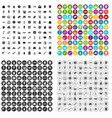 100 economy icons set variant vector image vector image