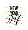 2017 Happy New Year Golden greeting card vector image vector image