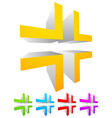 abstract cross-hair reticle graphics generic 3d vector image vector image