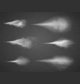 airy water spray mist set sprayer fog vector image