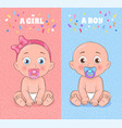 baby boy and baby girl set vector image vector image