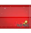 Background of Christmas Balls Decoration vector image vector image
