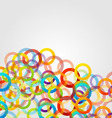 Background with colorful circles vector image vector image