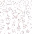 bashower seamless pattern vector image vector image