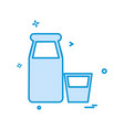 bottles icon design vector image