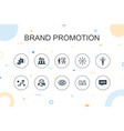 brand promotion trendy infographic template thin