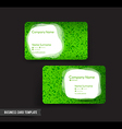 Business Card template set 53 green grass and vector image vector image
