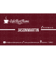 cafe bar business card red vector image