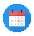 Calendar flat circle icon vector image