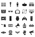 camcorder icons set simple style vector image vector image