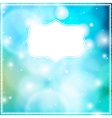 card with frame on blue bokeh background vector image