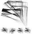 chaotic irregular random scattered lines artistic vector image vector image