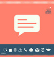 chat icon sign with text symbol vector image vector image