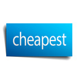 cheapest blue paper sign on white background vector image vector image