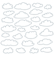 Cloud outlines set of cute simple shapes
