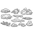 cloud sketch set vector image
