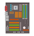 computer chip technology processor circuit vector image vector image