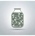 Cucumber jar vector image