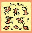 cute doodle monkey vector image vector image