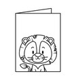 cute little lion character vector image