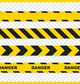 danger tapes set on transparent background vector image vector image