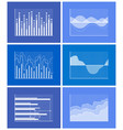 diagrams collection poster vector image vector image