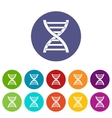 DNA set icons vector image vector image