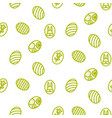 easter outline icon seamless pattern vector image vector image