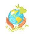 ecology concept logo vector image