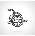 Electric bike parts line icon vector image
