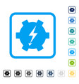 electric power gear framed icon vector image