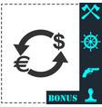 exchange icon flat vector image