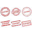 export stamps vector image vector image