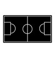 field topview football soccer icon image vector image vector image