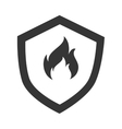 Flammable badge sign icon vector image