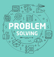 Green line flat circle problem vector image