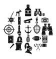 guns icons set simple style vector image vector image