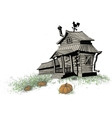 halloween house color vector image vector image
