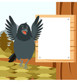 Happy Raven on the Tree winter flat background vector image vector image