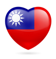 Heart icon of Taiwan vector image vector image