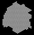 hex-tile thassos greek island map vector image vector image