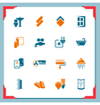 Home renovation icons In a frame series vector image vector image
