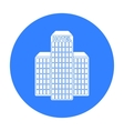 Hotel building icon in black style isolated on vector image vector image