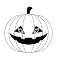 isolated cute halloween pumpkin icon vector image