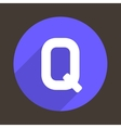 Letter Q Logo Flat Icon Style vector image