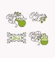 linear set logos olive oil vector image