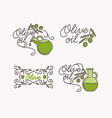 linear set of logos olive oil vector image vector image