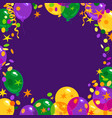 mardi gras carnival background with colorful vector image vector image