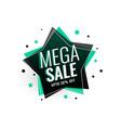 mega sale star tag banner design vector image